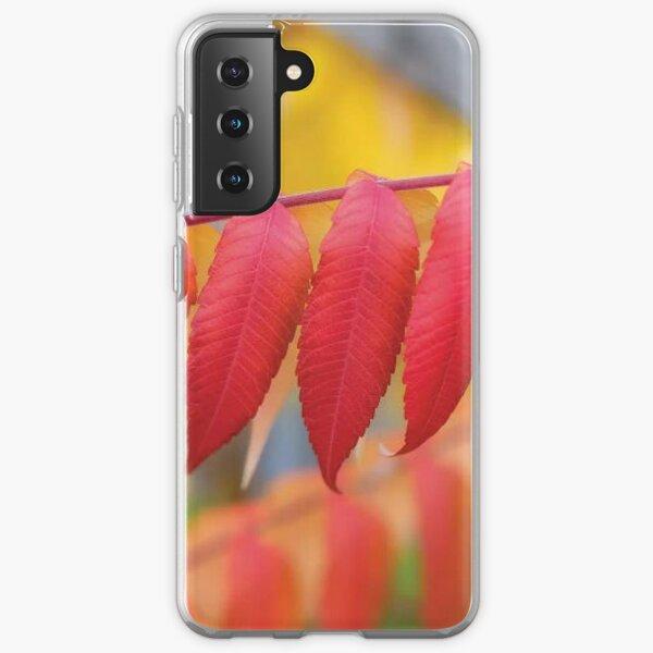 Red Leaves Of A Virginia Sumac Samsung Galaxy Soft Case