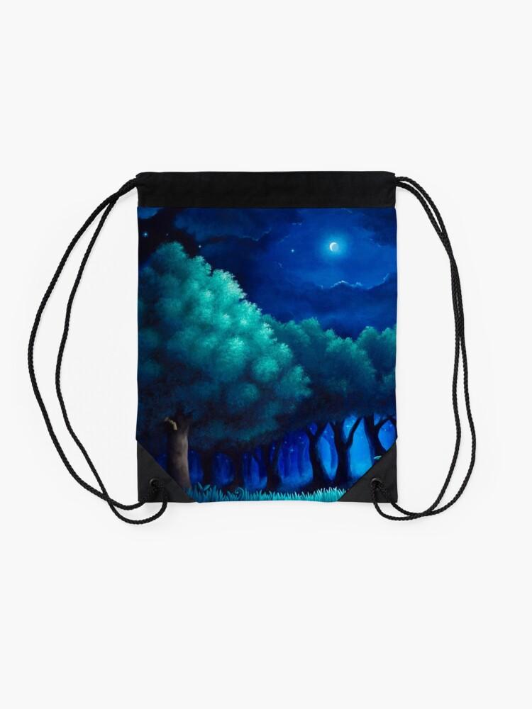 Alternate view of Viridian Forest Drawstring Bag