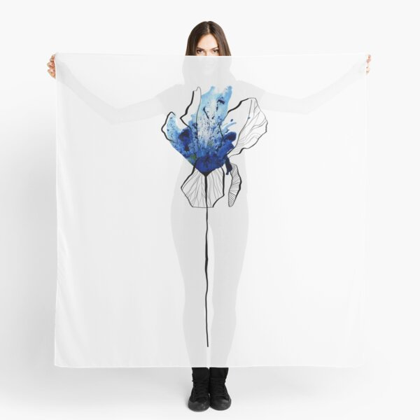 Lonely blue flower Scarf
