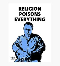 Christopher Hitchens white background Photographic Print