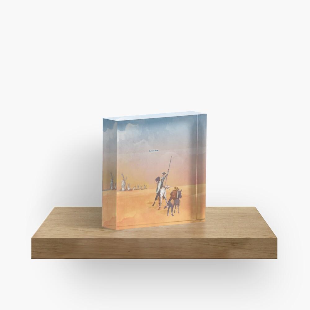 Don Quixote - Miguel de Cervantes Acrylic Block