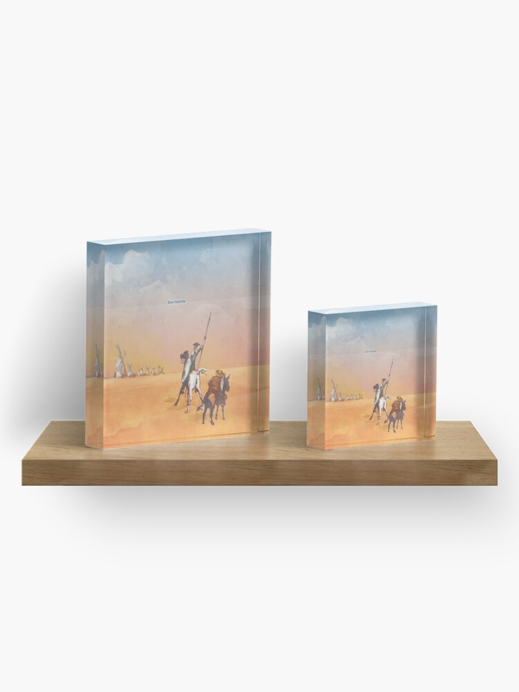 Alternate view of Don Quixote - Miguel de Cervantes Acrylic Block