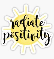 Radiate Positivity Sunshine Sticker