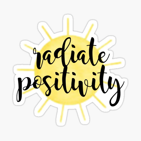 Radiate Positivity Sunshine Sticker