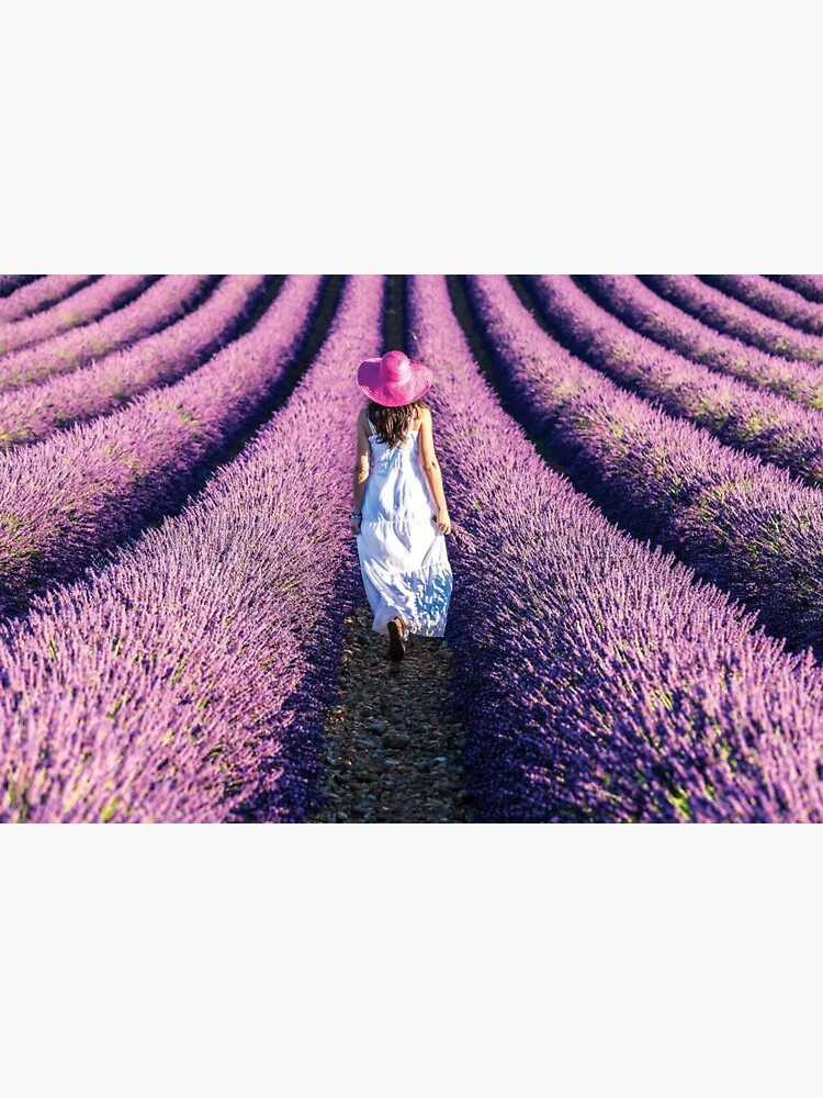 Woman Walking In The Lavender by TaivalkonAriel