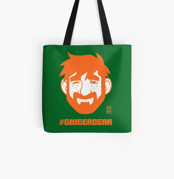 ADAM LIKES GINGER All Over Print Tote Bag