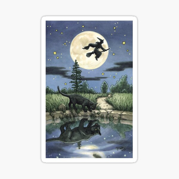 Everyday Witch Tarot - The Moon Sticker
