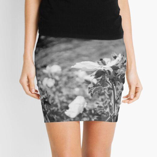Monochrome Yosemite Blooms Mini Skirt