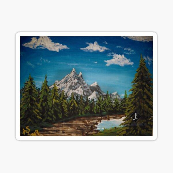 Summer Mountain Peak Sticker