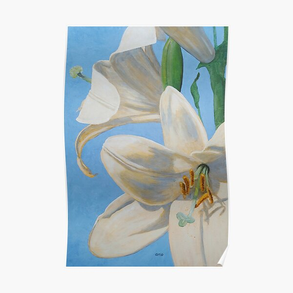 Lilies, Considered Poster