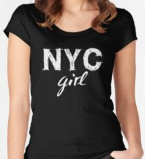 NYC New York City girl  Women's Fitted Scoop T-Shirt
