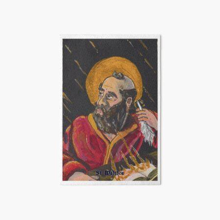 St. Matthew Inspired by the Spirit Art Board Print