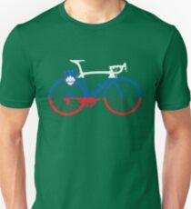 Camiseta unisex Bike Flag Slovenia (grande)