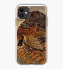 Vintage Chocolate Lab Hunting  iPhone Case