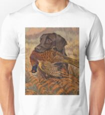 Vintage Chocolate Lab Hunting  T-Shirt