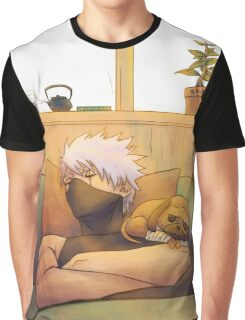 Sleeping Kakashi Graphic T-Shirt