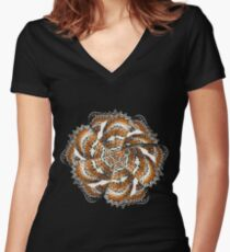 Wing mill - butterfly wings 1 Women's Fitted V-Neck T-Shirt