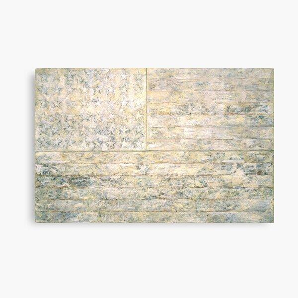 Jasper Johns | White Flag |  Canvas Print