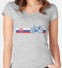 Bike Stripes Slovakia Women's Fitted Scoop T-Shirt