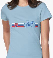 Bike Stripes Slovakia Women's Fitted T-Shirt