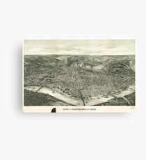 Vintage Pictorial Map of Cincinnati (1900) Canvas Print