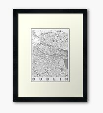 Dublin Map Line Framed Print