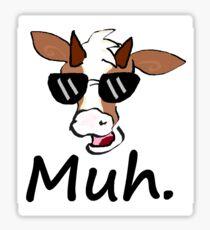 """Muh"" - Cool Cow Sticker"