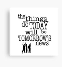 Tomorrow's News Canvas Print