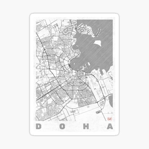 Doha Map Line Sticker