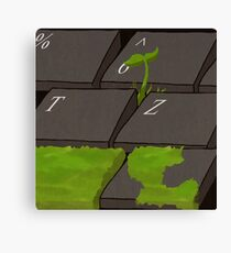 Green Keyboard Canvas Print