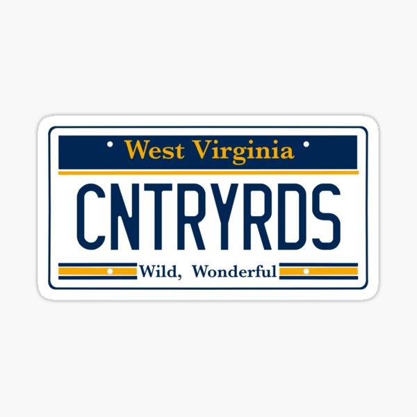 West Virginia License Plate Sticker