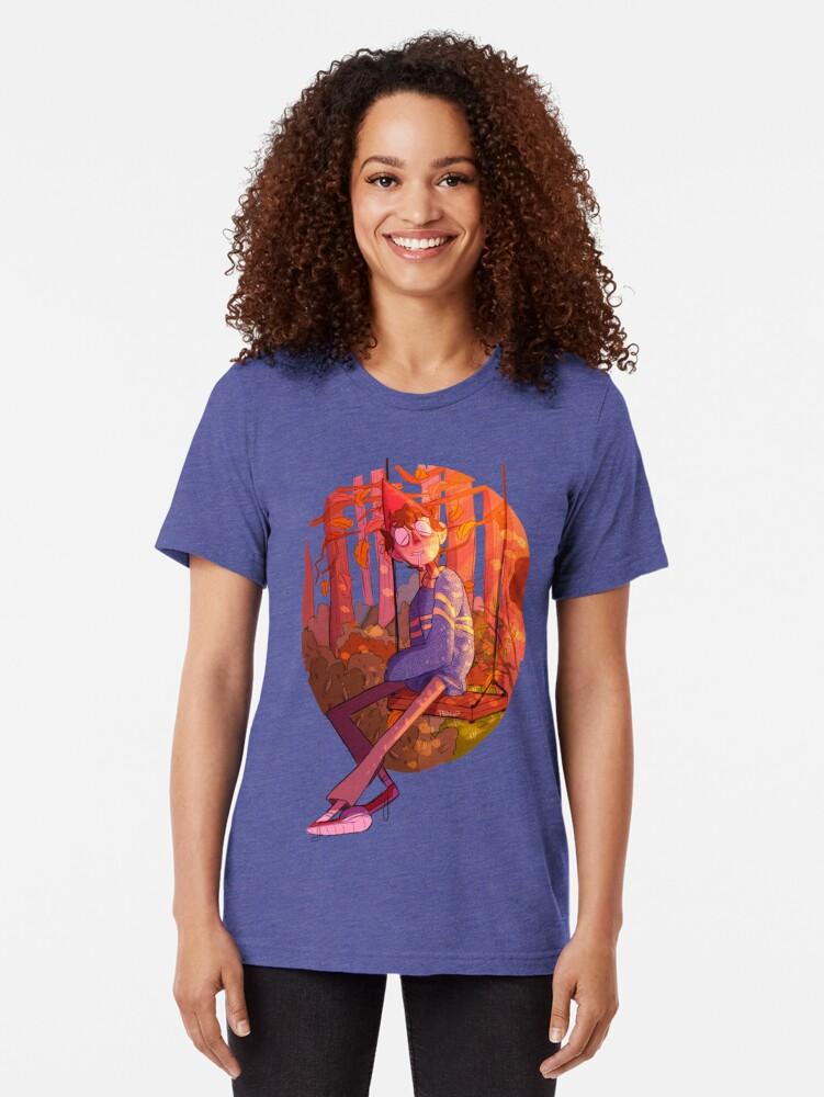 Alternate view of Sleeping Wirt Tri-blend T-Shirt