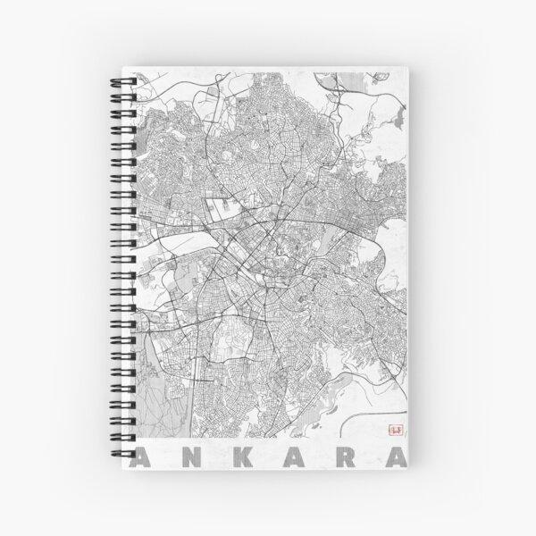 Ankara Map Line Spiral Notebook
