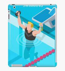 Swimming Isometric Vector iPad Case/Skin