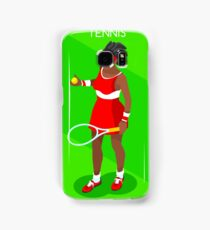 Tennis Player Vector Isometric Samsung Galaxy Case/Skin
