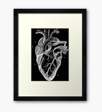 Black hearth Framed Print