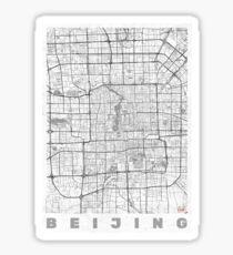 Beijing Map Line Sticker
