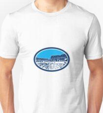 Coliseum Colosseum Rome Oval Woodcut Unisex T-Shirt