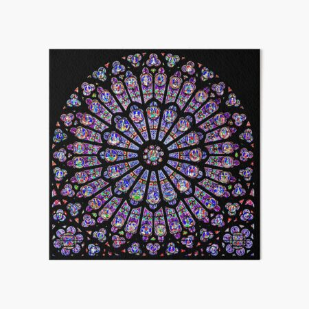 Rose Window of Notre Dame Art Board Print