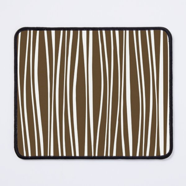 Uneven Bendy Vertical Lines Pattern Mouse Pad