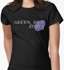 Green Hill Zone Womens Fitted T-Shirt