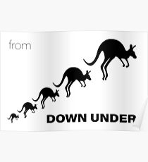 Kangaroos - From Down Under Poster