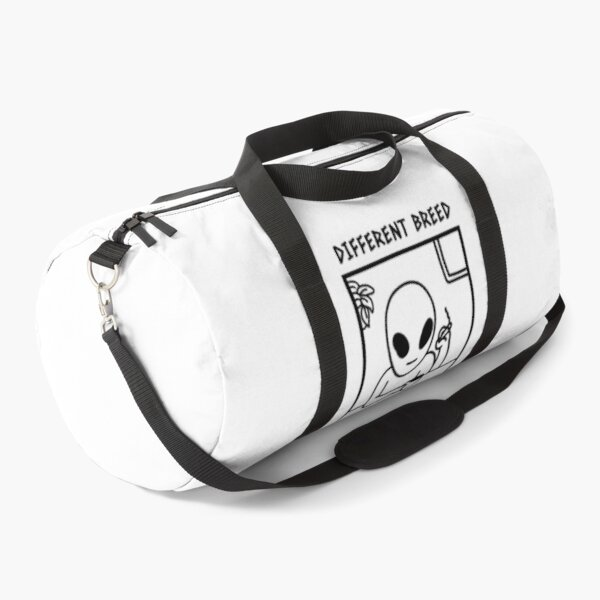 Different Breed Alien Pothead (White) Duffle Bag