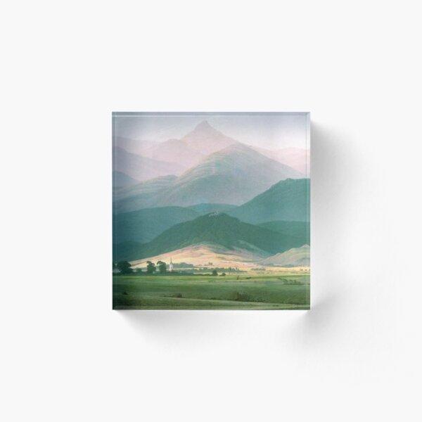 Landscape In The Riesengebirge Acrylic Block