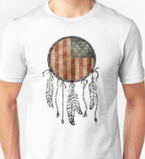 USA Flag Dream Catcher Unisex T-Shirt