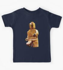 Golden Lego Minifigure Polygon Art Kids Clothes