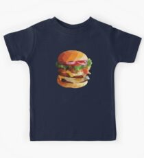 Gourmet Burger Polygon Art Kids Tee