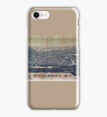 Aerial View of Greenwich, New York (1885) iPhone Case/Skin