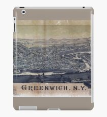 Aerial View of Greenwich, New York (1885) iPad Case/Skin