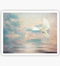 May God grant you Comfort and Peace Sticker